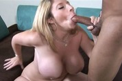 Very big busted pornstar gives blowjob lessons