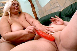 Two Chubby Girls Go Wild with Dildo