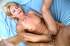 Blonde Grandma Gets Cock