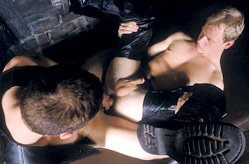 Dungeon Scene with Muscle Studs