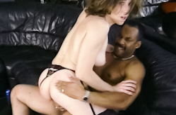 White mom loves black cock