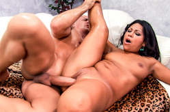 Latina Rides Huge Dick